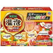 LB62アース製薬温泡とろり炭酸湯ぜいたく果実紅茶45g12錠入り入浴剤【1価】【ポイント消化】