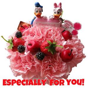 母の日 ディズニー フラワーギフト フラワーケーキ ドナルド デージー ハート入り 生花使用 フラワーアレンジメント 母の日プレゼント・母の日 の贈り物におすすめのフラワーギフト
