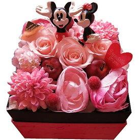 ディズニー 花束 箱を開けてサプライズ ミッキー ミニー入り ボックス プリザーブドフラワー入りギフト ノーマル ミッキー ミニー