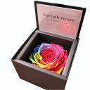 誕生日プレゼント ダイヤモンドローズ レインボーローズ プリザーブドフラワー 箱を開けてサプライズ ダイヤモン…