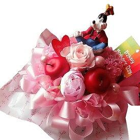 グーフィー入り 花 ラテ プリザーブドフラワー入りギフト ケース付き ◆誕生日プレゼント・記念日の贈り物におすすめのフラワーギフト