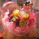 結婚祝い ディズニー フラワーギフト フラワーケーキ レインボーローズ プリザーブドフラワー入り ケース付き ウェディングA ◆結婚祝い・記念日の贈り物におすすめのフラワーギフト