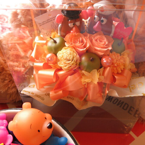 トイスートリー ポテトヘッド 花 プリザーブドフラワー プリザーブドフラワー入り ケース付き ◆誕生日プレゼント・記念日の贈り物におすすめのフラワーギフト