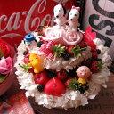 スヌーピー入り 花 フラワーケーキ フラワーギフト プリザーブドフラワー 7号ケーキ スヌーピー+スヌーピーお任せキャラクター 計5個入り