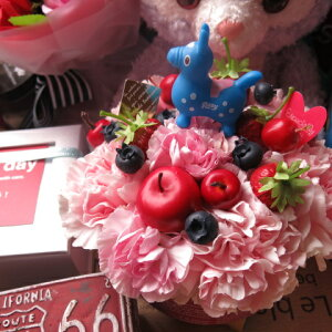 ロディ入り 花 ロディ マスコット入り フラワーギフト フラワーケーキ 生花使用 フラワーアレンジメント 誕生日プレゼント・記念日の贈り物におすすめのフラワーギフト