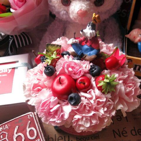 母の日 ディズニー フラワーギフト フラワーケーキ グーフィ入り フラワーアレンジメント 母の日プレゼント・贈り物におすすめのフラワーギフト