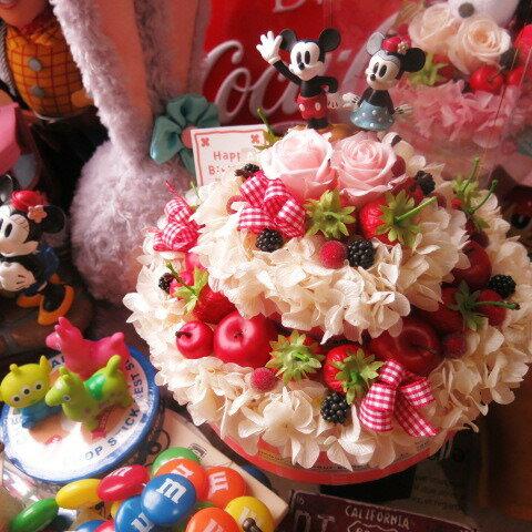 結婚祝い ディズニー 花 フラワーケーキ フラワーギフト プリザーブドフラワー 7号ケーキ ノーマル ミッキー ミニー