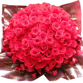 プロポーズ 花束風 フラワーギフト プリザーブドフラワー 赤バラ 108本 30×40cmケース付き