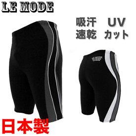 日本製 水着フィットネス水着 メンズ 男性 競泳水着 メンズ競泳用水着 練習用 スイムウェア 水泳 スポーツ水着 スイミング ルモード UVカット 吸汗速乾 大きいサイズあり M L O XO 02P03Dec16 黒 ブラック