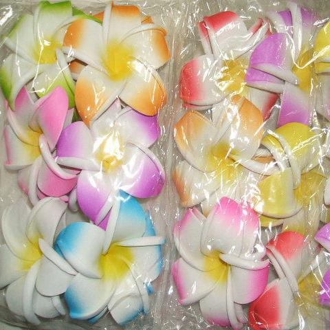【クリックポストOK】造花プルメリア LLサイズ 2個組 10色あります BALI