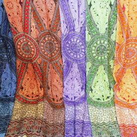 【メール便送料無料】更紗サラサ フラワー柄 9色から選べる プリント マルチカバー サロン BALI