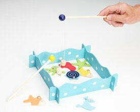 2330 幼児 知育玩具 木製 さかなつりゲーム 対象年齢3歳~★新品★1710
