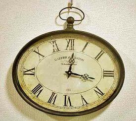 輸入雑貨 ガレリア オーバルクロック 時計 コベントガーデン Covent シャビーシック ウォールクロック モダン クラシック フレンチ BM-65