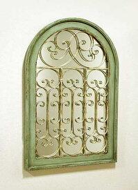輸入家具 シャルル ミラー パネル コベントガーデン Covent リビングスタジオ アーチ 窓 アンティーク シャビーシック フレンチ 鏡 壁飾り BG-47