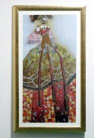 イタリア製 輸入雑貨 額絵 ヴァレリー モージュリ 「ロマンティックなソナティナ」 リビングスタジオ ゴールド 名作 FAL-0250-24 送料無料