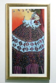 イタリア製 輸入雑貨 額絵 ヴァレリー モージュリ 「蝶のためのメロディ」 リビングスタジオ アンティーク ゴールド FAL-0250-25 送料無料