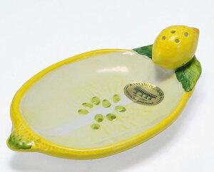 イタリア製 輸入雑貨 トレー レモン 陶器 リビングスタジオ 直輸入 小皿 バッサーノ ピックスタンド 楊枝立て ハンドメイド BRE-204LE 送料込み