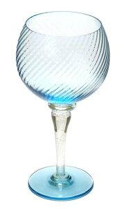 イタリア製 輸入雑貨 ワイングラス ベネチアングラス リビングスタジオ 直輸入 ムラーノ 470ml ブルー 金 ムラノガラス ETR-08 送料無料