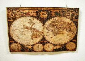 輸入雑貨 壁飾り 古典 地図柄 本 ウォールアート 世界地図 シャビーシック アンティーク ロマン ウォールデコレーション 古地図 28550