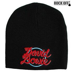 デヴィッド・ボウイ DAVID BOWIE ニットキャップ ニット帽 ビーニー キャップ 帽子 ワッチ ROCK OFF/ロック・オフ 正規オフィシャル メンズ レディース ぼうし アメカジ ファッション