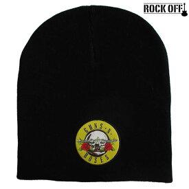 ガンズ・アンド・ローゼズ Guns N' Roses ニットキャップ ニット帽 ビーニー キャップ 帽子 ワッチ ROCK OFF/ロック・オフ 正規オフィシャル メンズ レディース ぼうし アメカジ ファッション