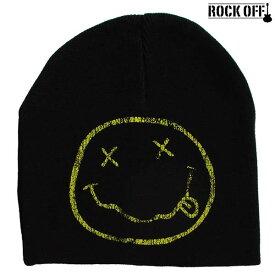 ニルヴァーナ Nirvana ニットキャップ ニット帽 ビーニー キャップ 帽子 ワッチ ROCK OFF/ロック・オフ 正規オフィシャル メンズ レディース ぼうし アメカジ ファッション