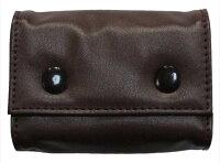 BENDAVISベンデイビスフェイクレザー三つ折り財布/ミニウォレット(小銭入れ付)男女兼用カラー:BLACK/BROWNメンズ/レディース