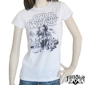 STAR WARS/スターウォーズ レディース半袖Tシャツ Fifth Sun/フィフス サン 正規ライセンス品