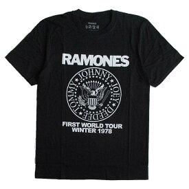 ラモーンズ RAMONES メンズ半袖Tシャツ ロックTシャツ バンドTシャツ パンク PUNK 正規ライセンス品