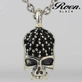 Roen BLACK/ロエンブラック スカルチャームネックレス シルバー925/ブラス/キュービックジルコニア メンズアクセサリー/正規ライセンス品