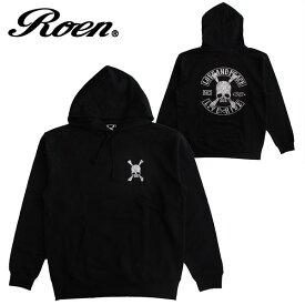 Roen ロエン メンズ プルオーバーパーカー スウェット レディース ロゴ ファッション プリント スカル ストリート カジュアル ギフト プレゼント