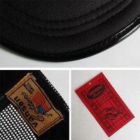 VANSONバンソンツイルメッシュキャップ帽子BLACKアメカジファッションメンズレディースぼうしハットスカル刺繍