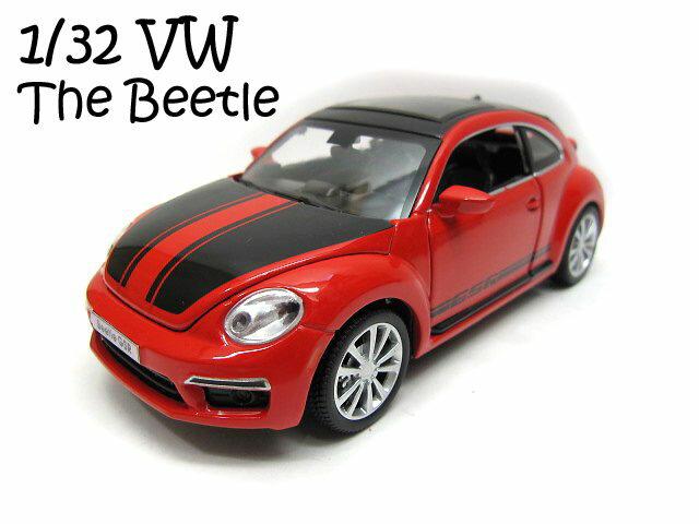アウトレット 1/32■ザ ビートル GSR■赤■フォルクスワーゲン■ミニカー/プルバック/おもちゃ/男の子//VW/THE BEETLE/ザビートル