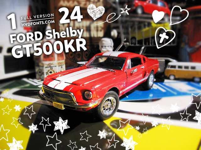 1/24 フォード シェルビー GT500KR 1968 赤 ミニカー SS マスタング アメ車 FORD Mustang