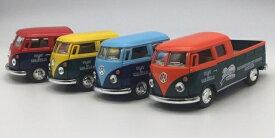 1台売り 1/34 1963 ワーゲンタイプ2 デリバリーサービス ダブルキャブ ピックアップ ミニカー フォルクスワーゲン VOLKSWAGEN ワーゲンバス ロコバス