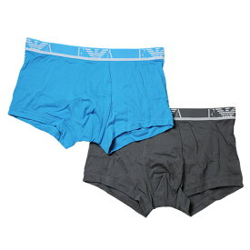 bb66bb7ec3ea エンポリオ・アルマーニ :COLORED STRETCH COTTON 2 PACK TRUNK (ロックグレー/ターコイズ)