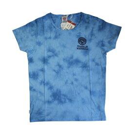 FRANKLIN & MARSHALL (フランクリン&マーシャル)染め ロゴプリント Tシャツ (ボクサーパンツ/男性下着) ブルー
