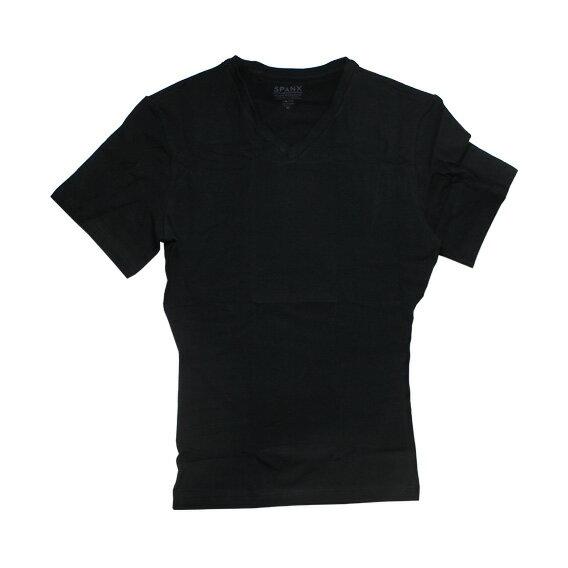 SPANX (スパンクス) COTTON COMPRESSION V-NECK (ボクサーパンツ/男性下着) ブラック