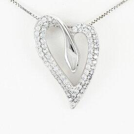 ハート ネックレス ダイヤ ペンダント レディース ダイヤモンド パヴェ ゴージャス 1.0カラット ゴールド k18 18k 18金
