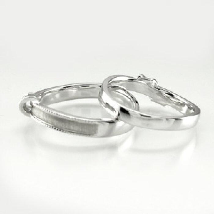 ペアリング結婚指輪マリッジリングリボンアンティークミル打ちツヤ消しダイヤモンドリングダイヤリングセットリングプラチナ900pt900ブライダル指輪【送料無料】