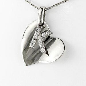 ハート ネックレス ダイヤ ペンダント レディース ダイヤモンド 地金 ネーム イニシャル アルファベット ブラ 揺れる プラチナ pt900