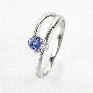 タンザナイト リング カラーストーン ハートシェイプ ハート ダイヤモンド 指輪 誕生石 レディース 一粒 ゴールド k18 18k 18金
