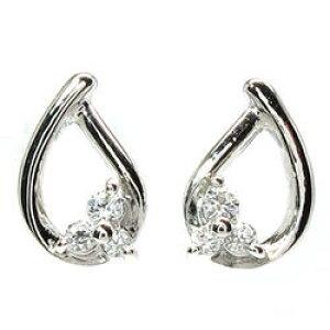 トリロジーピアス プレゼントホワイトゴールド 天然ダイヤモンド ギフト 結婚記念 誕生日 彼女 ゴールド 自分ご褒美 クリスマス 誕生石 パワーストーン