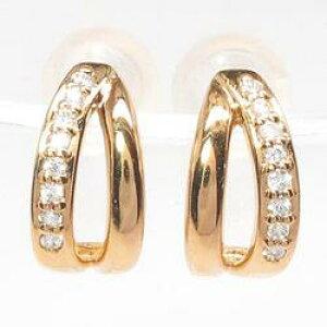 18K K18ゴールド 【送料無料】シンプルピアス プレゼントK18ピンクゴールド 天然ダイヤモンド 結婚記念 誕生日 彼女 ゴールド 自分ご褒美ギフト クリスマス 誕生石 パワーストーン