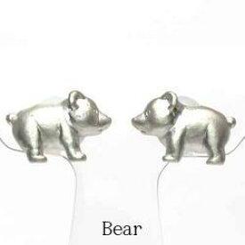 【送料無料】クマピアス アニマル 動物 プラチナ900 ベアー ギフト 誕生日 プレゼント くま 熊結婚記念 彼女 ピアス プラチナ 自分ご褒美