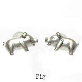 【送料無料】ブタピアス アニマル 動物 プラチナ900 ピッグ ギフト 誕生日 プレゼント ぶた 豚結婚記念 彼女 ピアス プラチナ 自分ご褒美 :