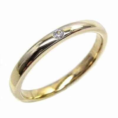K10 ゴールド ダイヤリング 一粒石 重ね付け ダイヤモンドリング 結婚指輪 ギフト 誕生日 プレゼント 彼女 ストレート 自分ご褒美 ゴールド