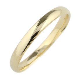 18金 メンズ シンプル 甲丸リング 結婚指輪 結婚記念 プレゼント 指輪 マリッジリング 誕生日