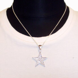 【Luz azul Silver925 Lサイズ 星ネックレス 送料無料】特注Lサイズ The Star Necklace ジルコニア装飾
