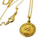 【K18 エリザベス コイン デザイン ネックレス 18金 コインネックレス】